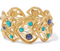 Gold-tone cabochon bracelet
