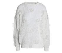 Embellished open-knit sweater