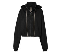 Cotton-blend Hooded Jacket Black