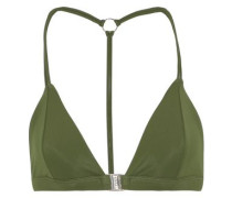 Louis The Ii Triangle Bikini Top Dark Green