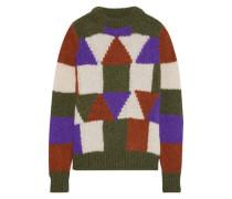 Woman Gina Intarsia Alpaca-blend Sweater Multicolor