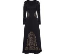 Sami laser-cut neoprene maxi dress