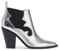 Kaleb Metallic Textured-leather Ankle Boots