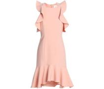 Micah cold-shoulder ruffle-trimmed cady dress