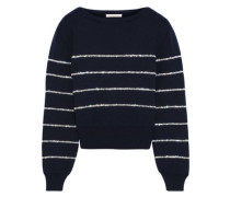 Crystal-embellished Wool Sweater Midnight Blue