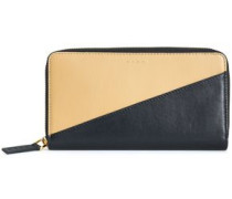 Two-tone Leather Continental Wallet Black Size --