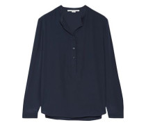 Silk-crepe blouse