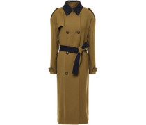 Woven Trench Coat Army Green