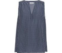 Kotahi printed washed-silk top