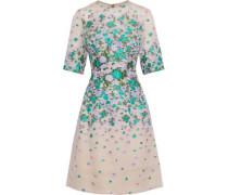 Holly floral-jacquard silk-blend dress