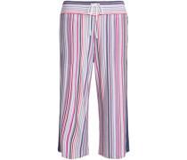 Striped stretch-modal jersey pajama pants