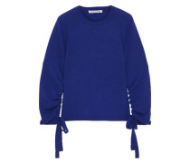 Lace-up Cashmere Sweater Royal Blue
