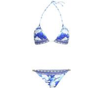 Printed Triangle Bikini White