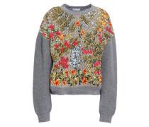 Macramé Wool Sweater Gray