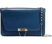 Studded Leather Shoulder Bag Azure Size --