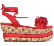 Nance fringed suede platform sandals
