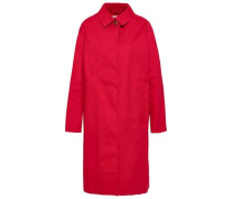 Woman Cotton Raincoat Red
