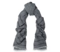 Metallic striped gauze scarf