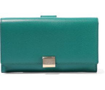 Grosvenor Textured-leather Continental Wallet Emerald Size --