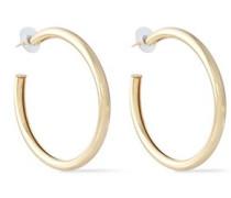 Gold-tone Hoop Earrings Gold Size --