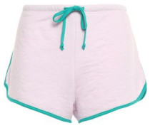 French Cotton-blend Terry Shorts Baby Pink