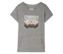 Printed Stretch-jersey T-shirt Gray Size 0