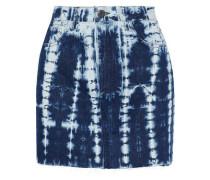 Celine Bleached Denim Mini Skirt Indigo  3
