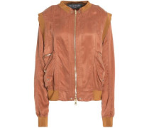 Two-tone satin jacket