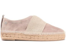 Nina Strap-detailed Suede Espadrilles Neutral