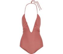 Luana Ruched Halterneck Swimsuit Antique Rose