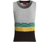 Paneled knitted top