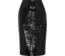 Sequined crepe pencil skirt