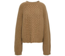 Wool And Angora-blend Sweater Sand