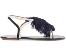 + Johanna Ortiz Tangier tasseled two-tone suede sandals