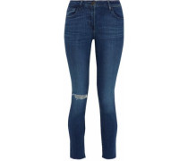 Midway distressed mid-rise skinny jeans