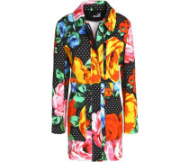 Printed cotton-blend jacket
