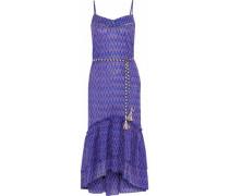 Zigy fluted printed cotton-gauze midi dress