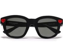D-frame Crystal-embellished Acetate Sunglasses Black Size --