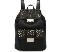 Jiji studded textured-leather backpack