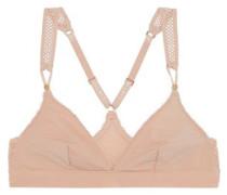 Stella stretch-jersey and mesh soft-cup triangle bra