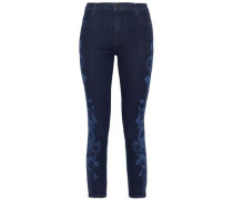 Lovesick High-rise Slim-leg Jeans Dark Denim  3