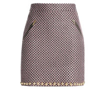 Studded tweed mini skirt