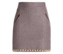 Studded tweed mini skirt