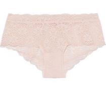 Zelia Stretch-lace Mid-rise Briefs Pastel Pink
