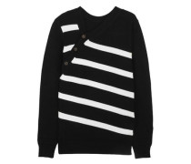 Striped cashmere and cotton-blend sweater