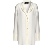 Silk-satin Shirt White