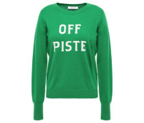 Woman Intarsia Wool And Cashmere-blend Sweater Green