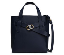 Leather Tote Navy Size --