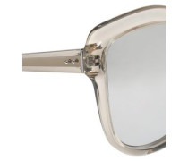 Cat-eye Acetate Mirrored Sunglasses Silver Size --