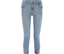 Florence Cropped Low-rise Skinny Jeans Light Denim  4